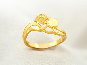 花語黃金戒指