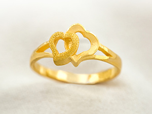 戀心黃金戒指