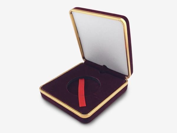 絨紫金邊-金銀幣收藏盒