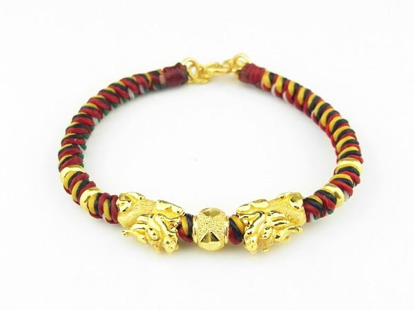 编织手环-黄金串饰