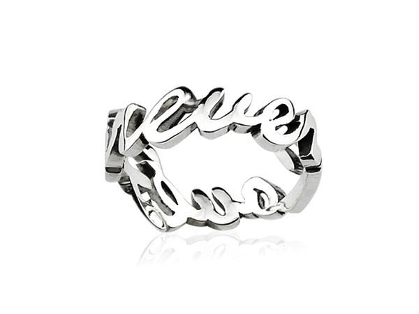 英文純銀戒指
