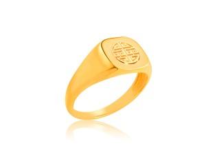黃金印章戒指-客製印章
