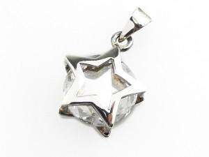 水晶星光純銀墜子