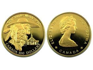 1989加拿大Sainte-Marie金幣$100