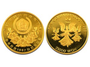 1987漢城奧運金幣0.5盎司22K