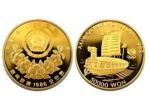 1986漢城奧運金幣1盎司22k