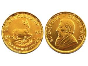 1982南非富格林22K金幣0.25盎司