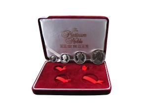 英國伊莉莎白鉑金幣套組(四枚鉑金幣)