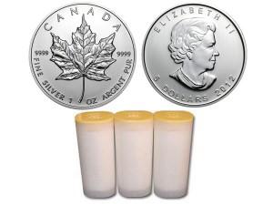2012加拿大楓葉銀幣1盎司〖1管25枚〗