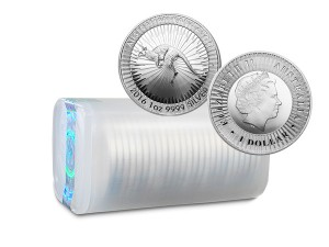2016澳洲袋鼠銀幣1盎司〖1管25枚〗