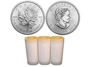2016加拿大楓葉銀幣1盎司〖1管25枚〗