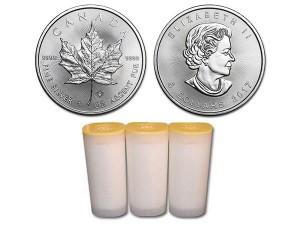 2017加拿大楓葉銀幣1盎司〖1管25枚〗