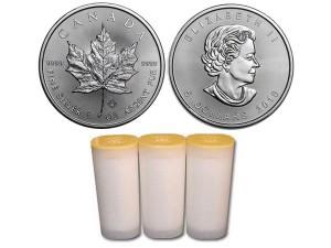 2018加拿大楓葉銀幣1盎司〖1管25枚〗