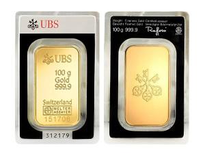 UBS瑞士金條100克