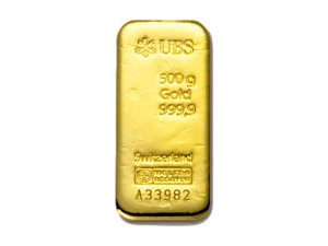 UBS瑞士金條500克