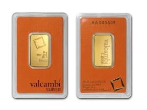 Valcambi金條20克