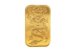 臺銀金龍條塊紀念版-10克