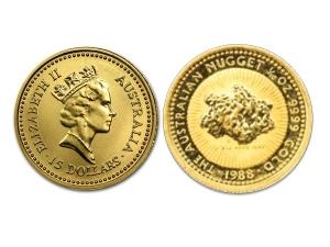 1988澳洲鴻運金幣0.1盎司