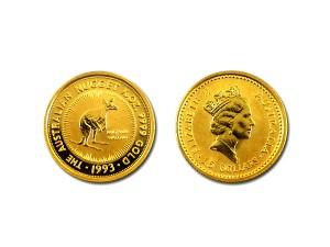 1993澳洲袋鼠金幣0.1盎司