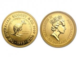 1993澳洲袋鼠金幣0.5盎司