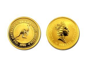 1995澳洲袋鼠金幣0.25盎司