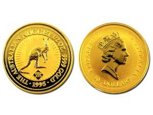 1995澳洲袋鼠金幣0.5盎司-福