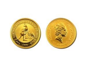 1996澳洲袋鼠金幣0.1盎司