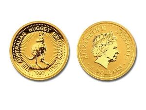 1999澳洲袋鼠金幣0.05盎司
