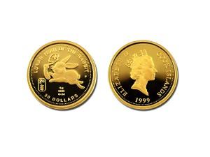 1999庫克群島兔年紀念金幣5克