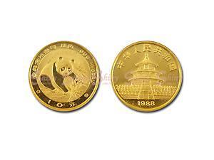1988中國熊貓金幣0.1盎司