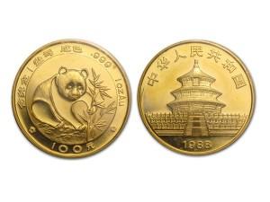 1988中國熊貓金幣1盎司