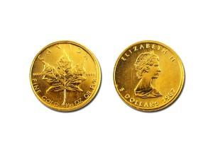 1987加拿大楓葉金幣0.1盎司