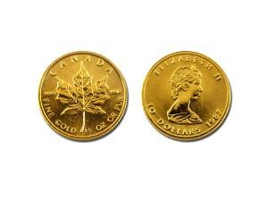 1987加拿大楓葉金幣0.25盎司