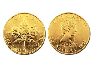1987加拿大楓葉金幣0.5盎司