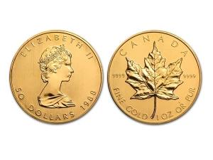 1988加拿大楓葉金幣1盎司