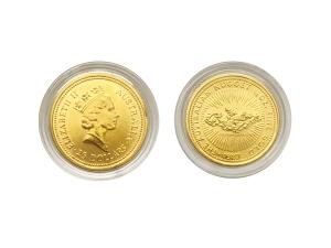 1989澳洲鴻運金幣0.25盎司