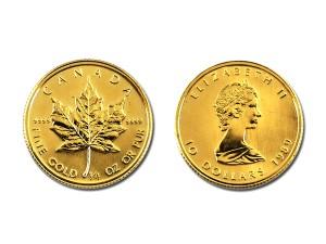 1989加拿大楓葉金幣0.25盎司