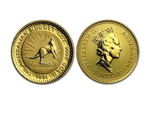 1991澳洲袋鼠金幣0.05盎司