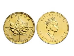 1992加拿大楓葉金幣0.25盎司