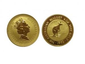 1993澳洲袋鼠金幣0.25盎司