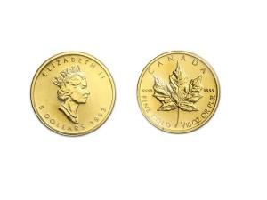 1993加拿大楓葉金幣0.1盎司