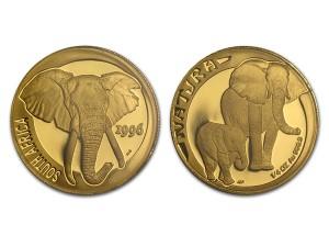 1996南非自然-大象金幣0.25盎司
