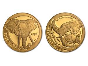 1996南非自然-大象金幣0.5盎司