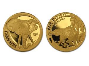 1996南非自然-大象金幣1盎司