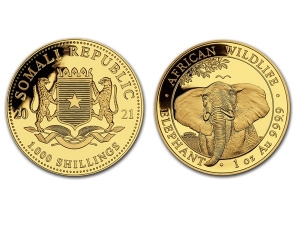 2021索馬利亞非洲象金幣1盎司
