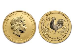 2017澳洲生肖雞金幣0.1盎司