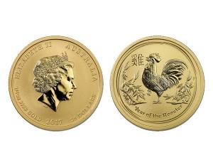 2017澳洲生肖雞金幣0.25盎司