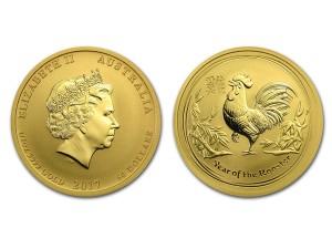 2017澳洲生肖雞金幣0.5盎司