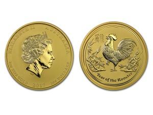 2017澳洲生肖雞金幣2盎司
