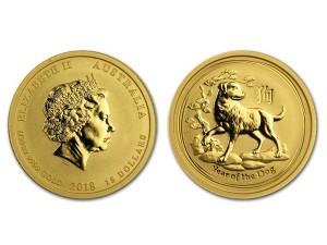 2018澳洲生肖狗金幣0.1盎司